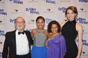Luisa at the opening of Dream Street with castmates (l. to r.) Bob Cohen, Madison Zamor, and Nicole Wildy (Credit Genevieve Rafter Keddy/www.BroadwayWorld.com)